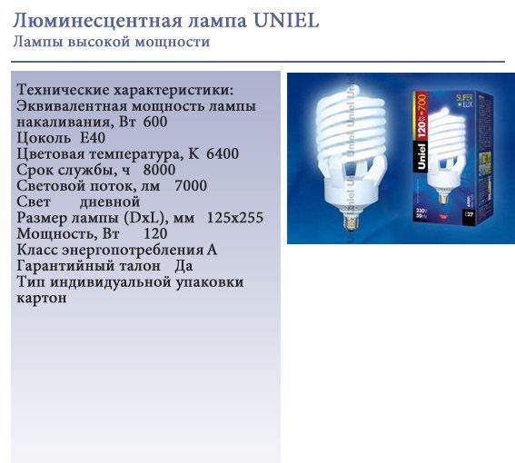 Энергосберегающие лампы высокой мощности